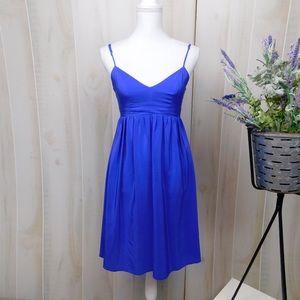 Amanda Uprichard Blue Silk Flared Dress